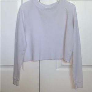brandy melville waffle/thermal long sleeve shirt